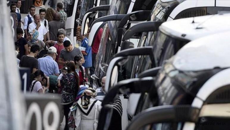 Bayram öncesi otobüs firmalarına ek sefer izni