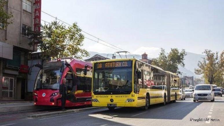 Bayramda  Bursa'da toplu ulaşım ücretsiz