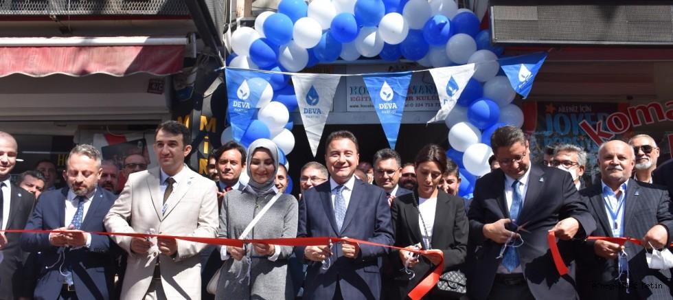 DEVA Partisi Genel Başkanı Babacan,  İnegöl ilçe başkanlığının açılışını yaptı