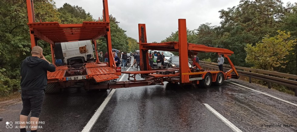 İnegöl Bursa yolu trafiğe kapandı