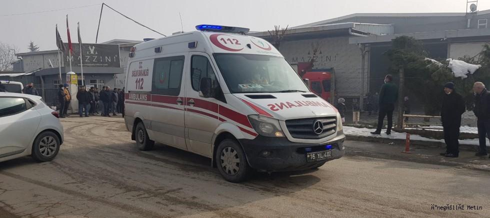 İnegöl'de mobilya üretim fabrikasındaki patlamada 1 kişi öldü 6 kişi yaralandı