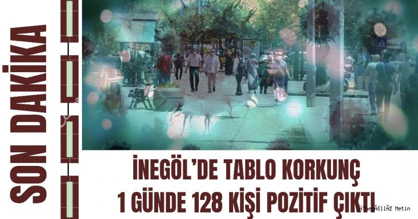 İNEGÖL'DE TABLO KORKUNÇ 1 GÜNDE 128 KİŞİ POZİTİF ÇIKTI