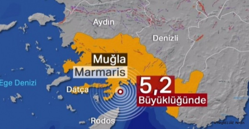 Muğla'da 5.2 büyüklüğünde deprem! İzmir ve çevre illerde de hissedildi