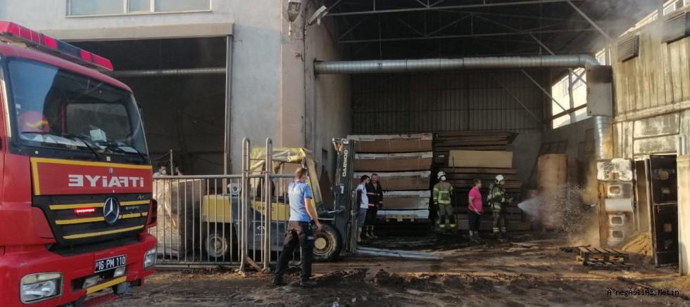 Organize Sanayi Bölgesi Yangın sıçramadan söndürüldü