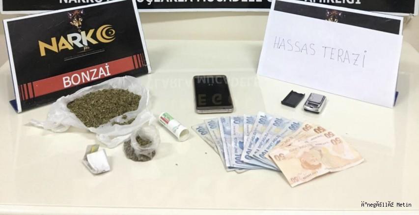 Uyuşturucu ticareti yaptığı iddia edilen şahıs gözaltına alındı