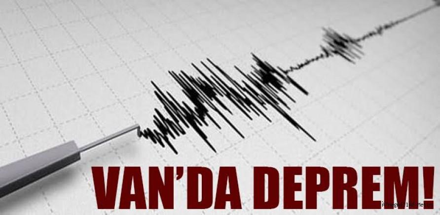 Van Özalp'te 5.4 büyüklüğünde deprem